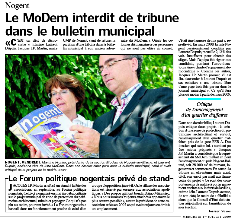 ArticleLeParisien010709censuretribuneNP